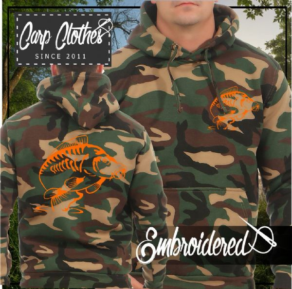 014 EMBROIDERED CAMO FISHING HOODIE